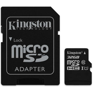 Kingston Canvas Select MicroSDHC Class 10 UHS-I - 32GB - inclusief SD adapter