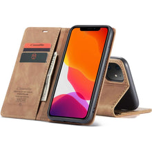 Load image into Gallery viewer, CASEME Apple iPhone 11 Retro Wallet Case - Brown
