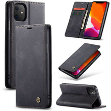 Load image into Gallery viewer, CASEME Apple iPhone 11 Retro Wallet Case - Black
