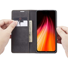 Load image into Gallery viewer, CASEME Xiaomi Redmi Note 8 Retro Wallet Case - Black
