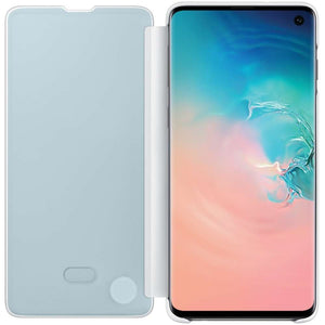Samsung Galaxy S10 Clear View Cover (White) - EF-ZG973CW