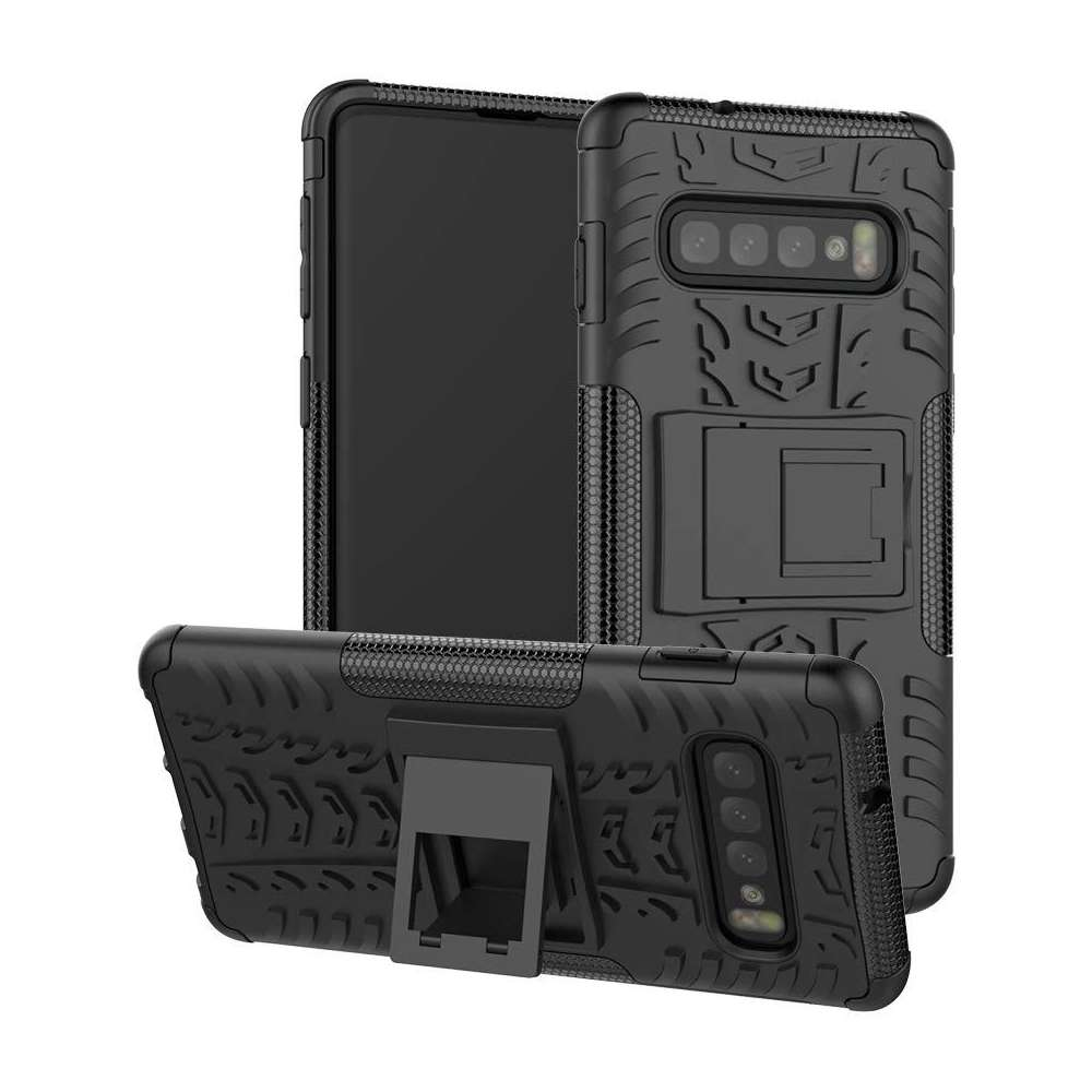 Just in Case Rugged Hybrid Samsung Galaxy S10 Case (Black)