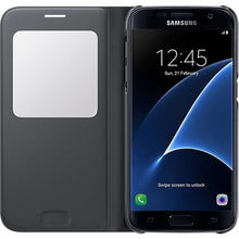 Load image into Gallery viewer, Samsung Galaxy S7 S-View Cover (Black) - EF-CG930PB