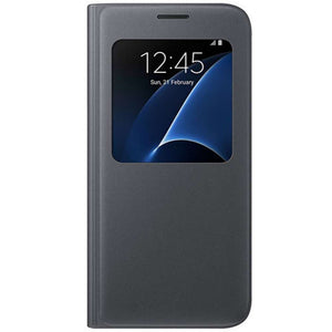 Samsung Galaxy S7 S-View Cover (Black) - EF-CG930PB