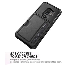 Load image into Gallery viewer, Just in Case Hybrid Card Holder Case Samsung Galaxy S9 Plus - Black