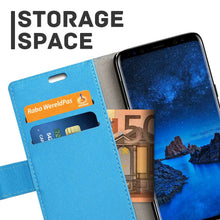 Load image into Gallery viewer, Just in Case Samsung Galaxy S9 Plus Wallet Case (Blue)