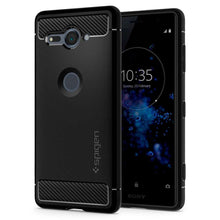 Load image into Gallery viewer, Spigen Rugged Armor Case Sony Xperia XZ2 Compact (Black) G12CS23351