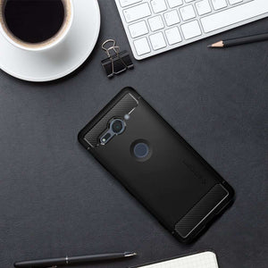 Spigen Rugged Armor Case Sony Xperia XZ2 Compact (Black) G12CS23351