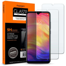 Load image into Gallery viewer, Spigen Dual Pack Glas tR Slim Xiaomi Redmi Note 7 Tempered Glass S34GL26119