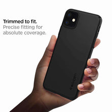 Load image into Gallery viewer, Spigen Thin Fit Air Apple iPhone 11 Case (Black) - ACS00067