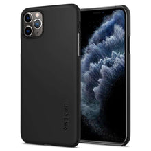 Load image into Gallery viewer, Spigen Thin Fit Apple iPhone 11 Pro Max Case (Black) - 075CS27127