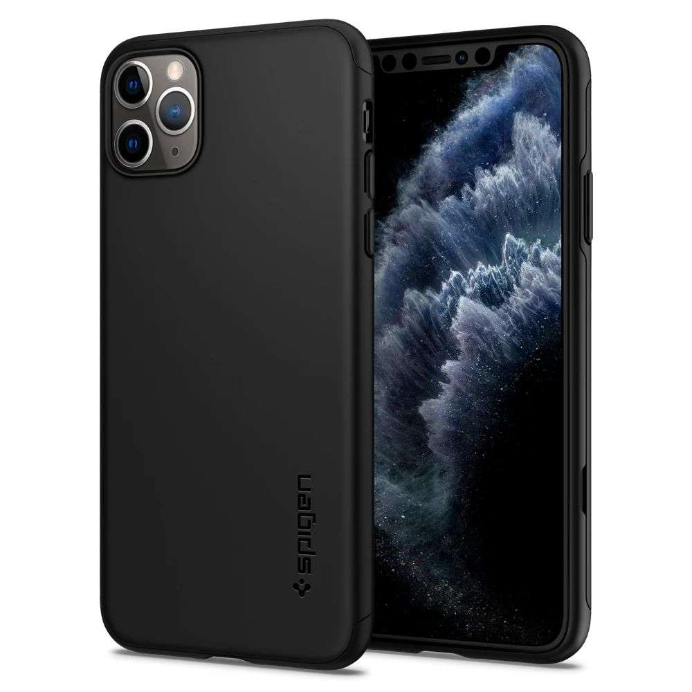 Spigen Thin Fit Classic Apple iPhone 11 Pro Max Case (Black) - 075CS27432