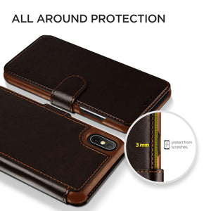 VRS Design Layered Dandy Series Apple iPhone Xs Max (Dark Brown) - 905697