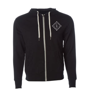 Diamond Zip Hood