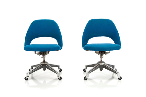 Pair of Executive Armless Office Chairs | Saarinen
