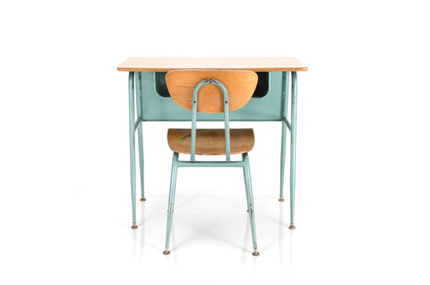 Blonde Schooldesk & Chair