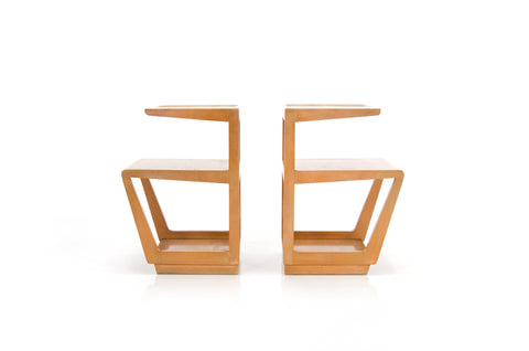Pair of Step End Tables | Edward Wormley