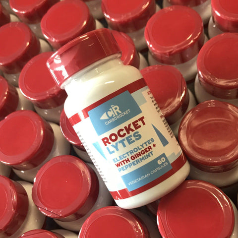 RocketLytes - Electrolyte Capsules with Ginger and Peppermint (60 caps)