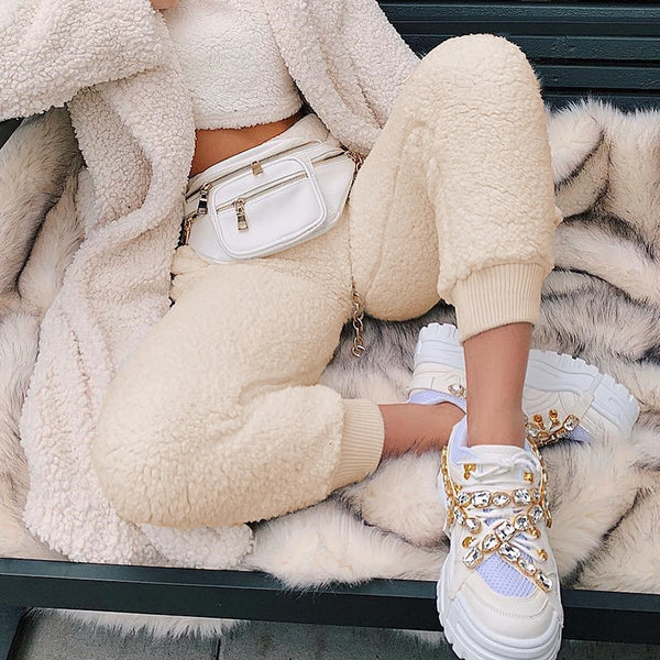 Furry Cozy Joggers - WoMensTrendzz