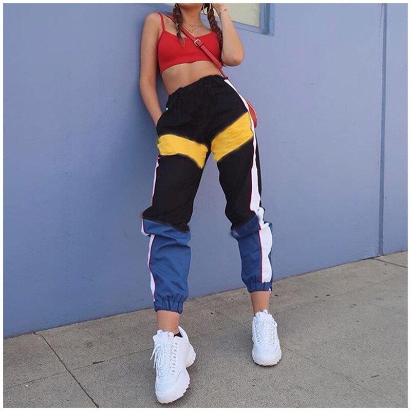 Wayne Contrast Color Pants - WoMensTrendzz