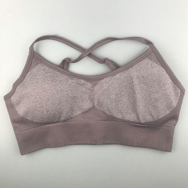 Everly Patchwork Yoga Bra - WoMensTrendzz