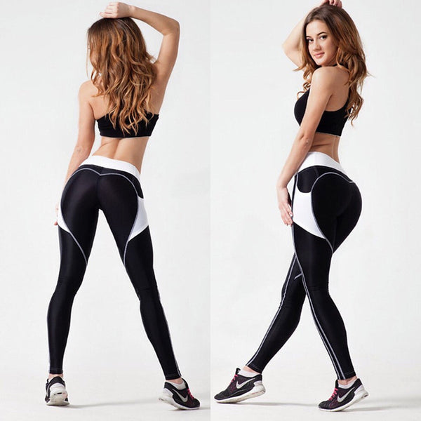 'Flicker Heart' Yoga Pants - WoMensTrendzz