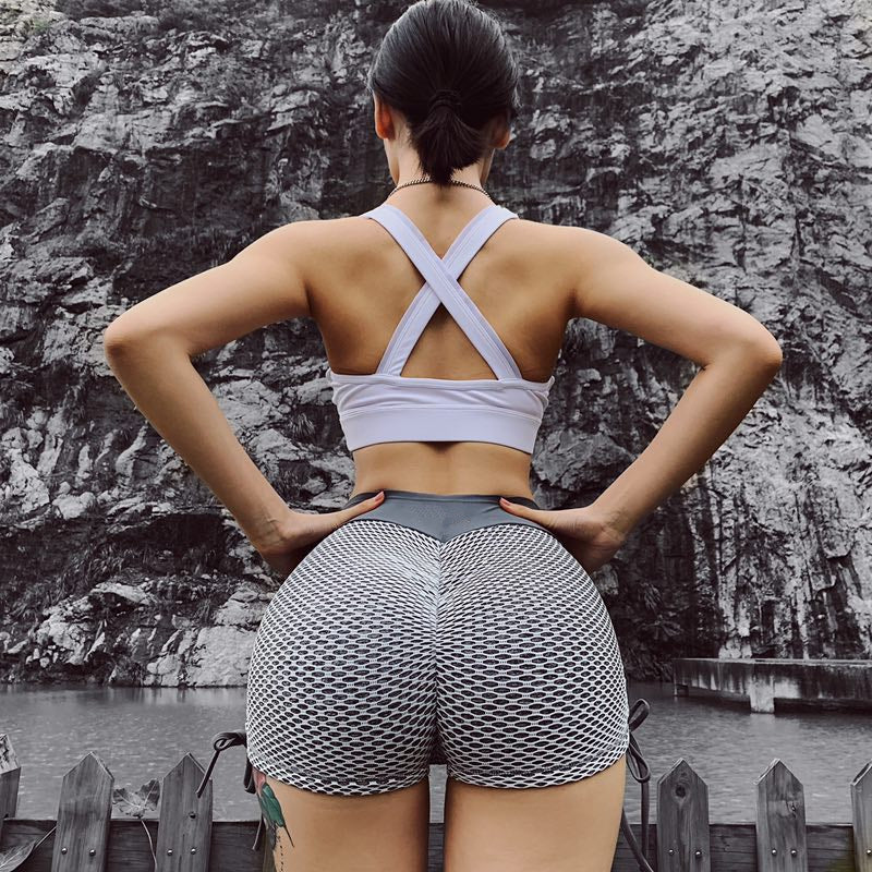Gym Knitting Sport Shorts - WoMensTrendzz