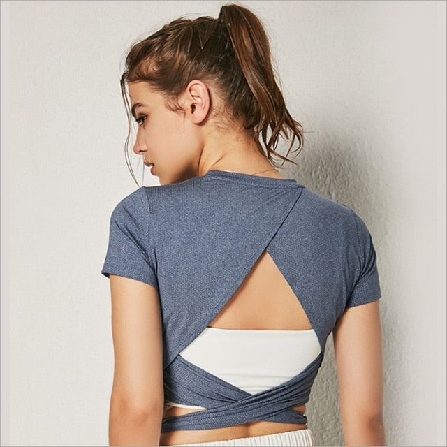 Vogue Backless Yoga Top - WoMensTrendzz