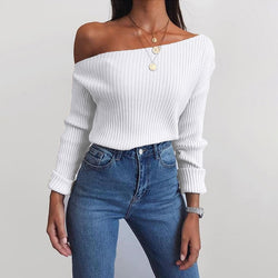 Erissa Knitted Off-shoulder Top - WoMensTrendzz