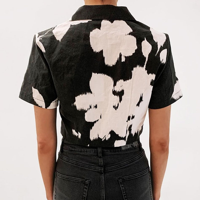 Shantese Flower Crop Top - WoMensTrendzz