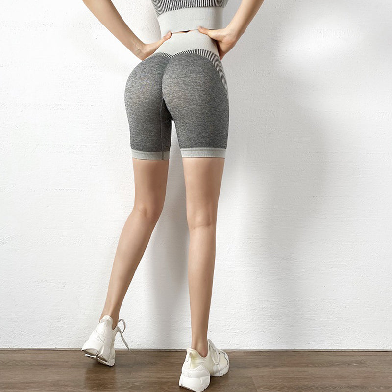 Dashing High Waist Yoga Shorts - WoMensTrendzz