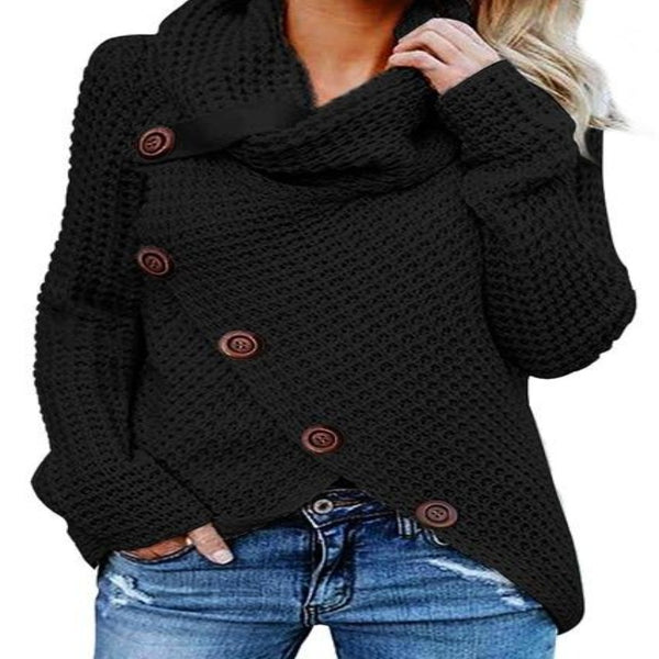 Candra Turtle Neck Knitted Sweater - WoMensTrendzz