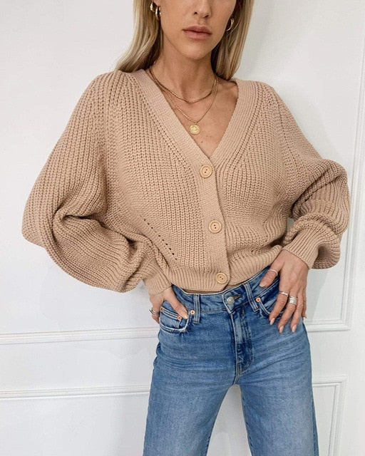Moana Vintage Cardigan Knitted Sweater - WoMensTrendzz