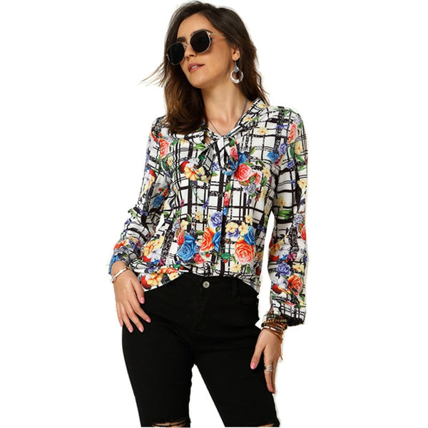 Mystique long sleeve Blouse - WoMensTrendzz