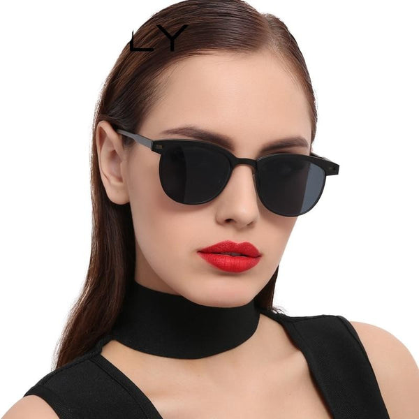 Halley Metal Half Frame Sunglasses - WoMensTrendzz