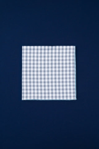 grey & white gingham I