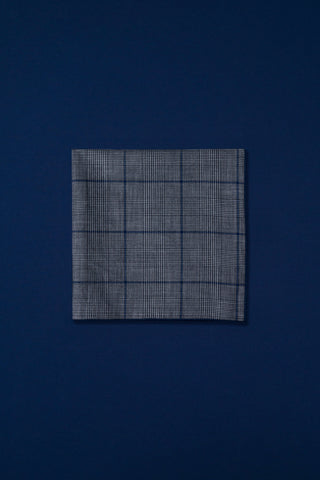 grey & navy glen plaid
