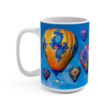 Load image into Gallery viewer, Mug: Fractal Balloons 15oz