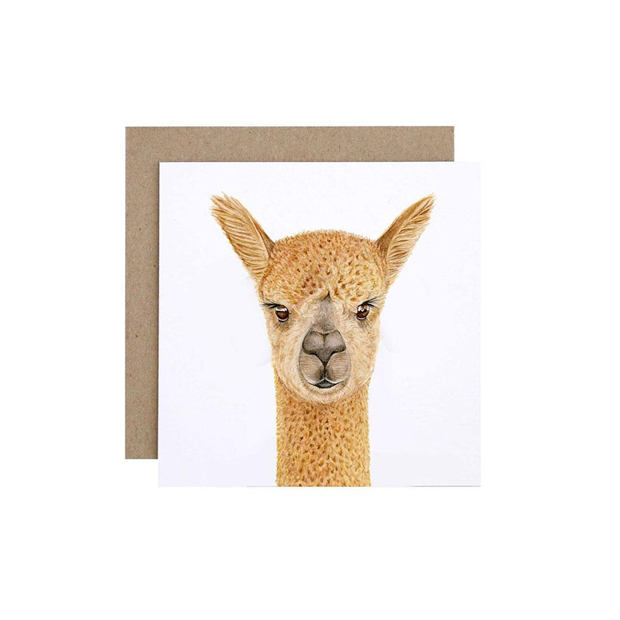 Alice the Alpaca Greeting Card