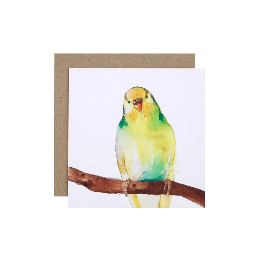 Betty the Budgie Greeting Card