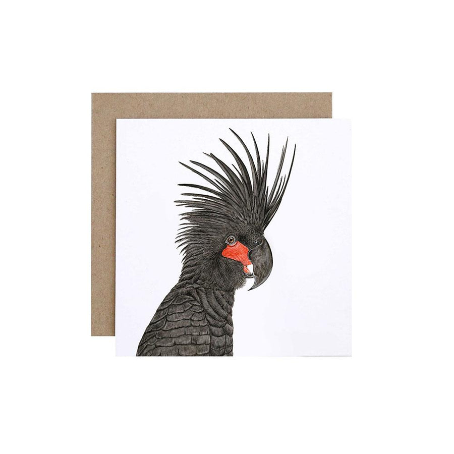 Carlos the Palm Cockatoo Greeting Card