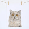 Otto the British Short Hair Cat Tea Towel