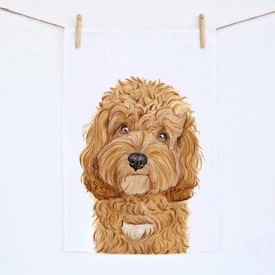 Carrie the Cavoodle Tea Towel
