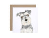 Chloe the Schnauzer Greeting Card