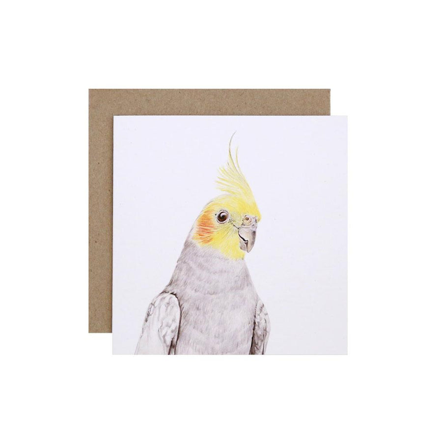 Colin the Cockatiel Greeting Card