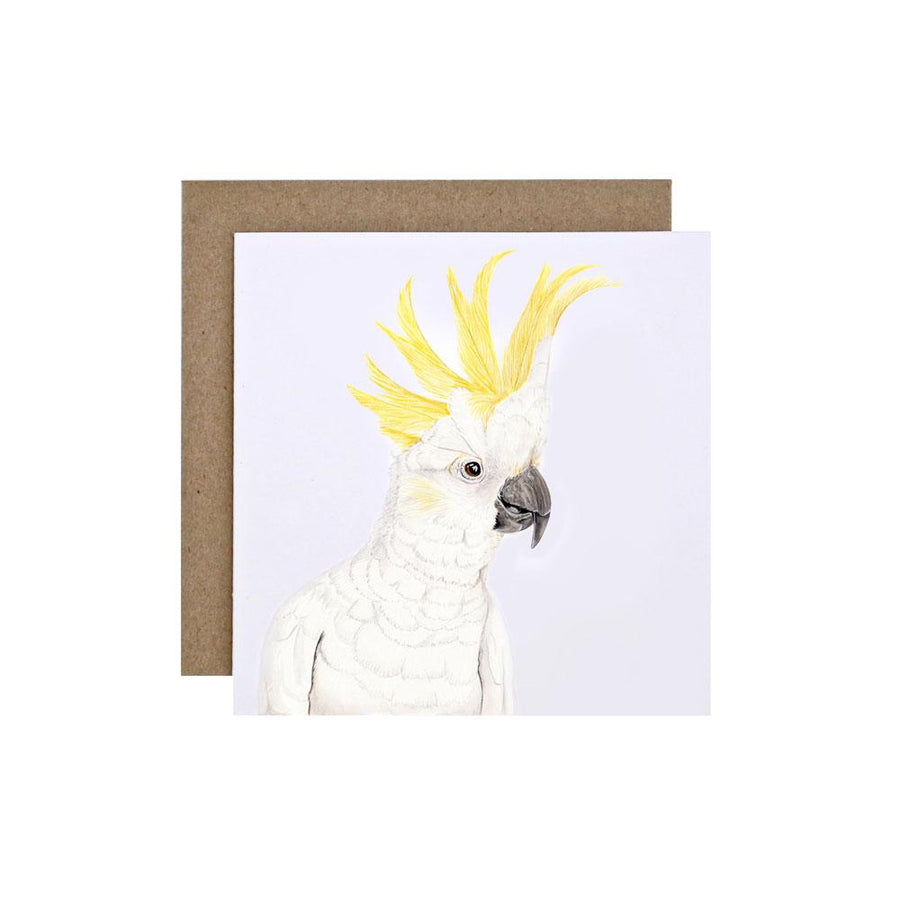 Connie the Cockatoo Greeting Card