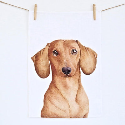 Duke the Dachshund Tea Towel