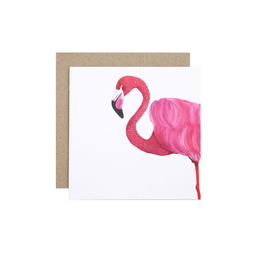 Florence the Flamingo Greeting Card