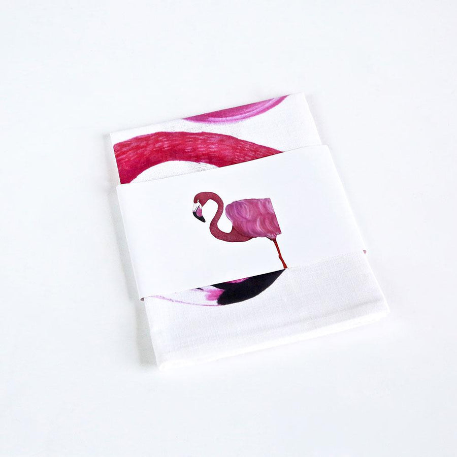 Florence the Flamingo Tea Towel