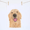 Sid the Golden Retriever Tea Towel
